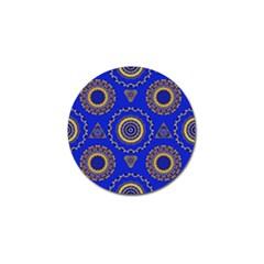 Abstract Mandala Seamless Pattern Golf Ball Marker