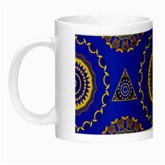 Abstract Mandala Seamless Pattern Night Luminous Mugs