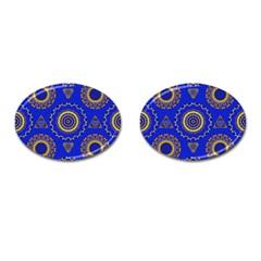 Abstract Mandala Seamless Pattern Cufflinks (Oval)