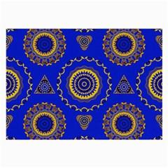 Abstract Mandala Seamless Pattern Large Glasses Cloth