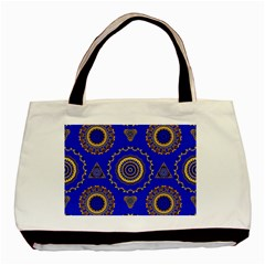 Abstract Mandala Seamless Pattern Basic Tote Bag (two Sides)
