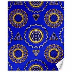 Abstract Mandala Seamless Pattern Canvas 11  X 14