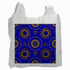 Abstract Mandala Seamless Pattern Recycle Bag (one Side)