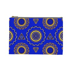 Abstract Mandala Seamless Pattern Cosmetic Bag (large)