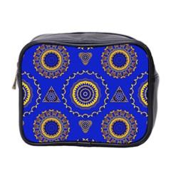 Abstract Mandala Seamless Pattern Mini Toiletries Bag 2-Side