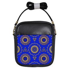 Abstract Mandala Seamless Pattern Girls Sling Bags