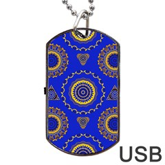 Abstract Mandala Seamless Pattern Dog Tag Usb Flash (one Side)
