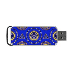 Abstract Mandala Seamless Pattern Portable Usb Flash (two Sides)
