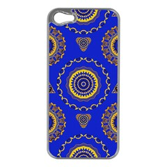 Abstract Mandala Seamless Pattern Apple iPhone 5 Case (Silver)