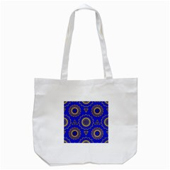 Abstract Mandala Seamless Pattern Tote Bag (White)