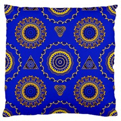 Abstract Mandala Seamless Pattern Large Flano Cushion Case (two Sides)