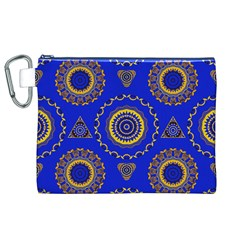 Abstract Mandala Seamless Pattern Canvas Cosmetic Bag (xl)