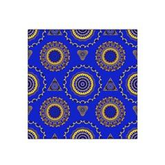 Abstract Mandala Seamless Pattern Satin Bandana Scarf