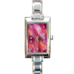 Red Seamless Abstract Background Rectangle Italian Charm Watch