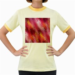 Red Seamless Abstract Background Women s Fitted Ringer T-Shirts