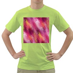 Red Seamless Abstract Background Green T-Shirt