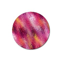 Red Seamless Abstract Background Magnet 3  (Round)