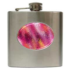 Red Seamless Abstract Background Hip Flask (6 oz)