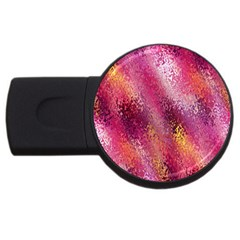 Red Seamless Abstract Background Usb Flash Drive Round (2 Gb)