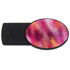 Red Seamless Abstract Background USB Flash Drive Oval (1 GB)