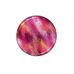 Red Seamless Abstract Background Hat Clip Ball Marker (4 pack)