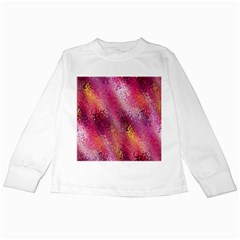 Red Seamless Abstract Background Kids Long Sleeve T-Shirts