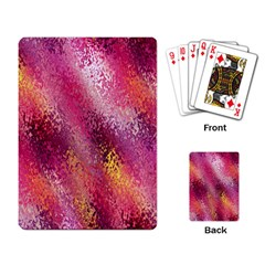 Red Seamless Abstract Background Playing Card