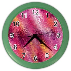 Red Seamless Abstract Background Color Wall Clocks