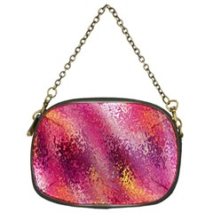 Red Seamless Abstract Background Chain Purses (One Side)