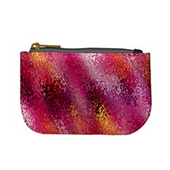 Red Seamless Abstract Background Mini Coin Purses