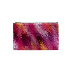 Red Seamless Abstract Background Cosmetic Bag (Small)