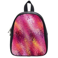 Red Seamless Abstract Background School Bags (Small)