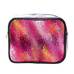 Red Seamless Abstract Background Mini Toiletries Bags