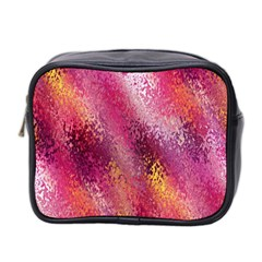 Red Seamless Abstract Background Mini Toiletries Bag 2-Side