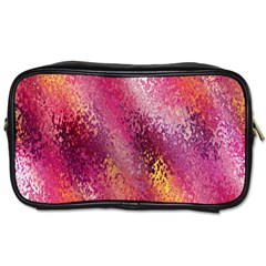 Red Seamless Abstract Background Toiletries Bags 2-Side