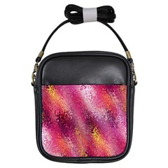 Red Seamless Abstract Background Girls Sling Bags