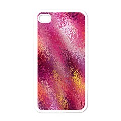Red Seamless Abstract Background Apple Iphone 4 Case (white)