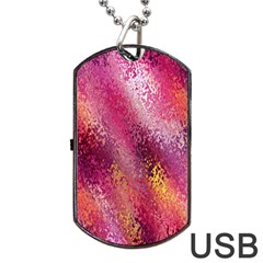 Red Seamless Abstract Background Dog Tag Usb Flash (two Sides)