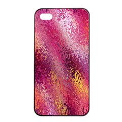 Red Seamless Abstract Background Apple iPhone 4/4s Seamless Case (Black)
