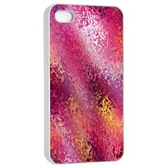 Red Seamless Abstract Background Apple Iphone 4/4s Seamless Case (white)