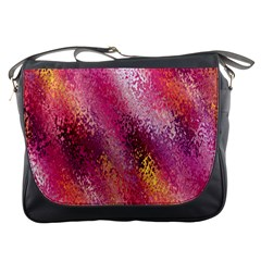 Red Seamless Abstract Background Messenger Bags