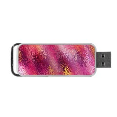 Red Seamless Abstract Background Portable USB Flash (Two Sides)