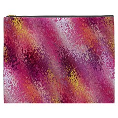 Red Seamless Abstract Background Cosmetic Bag (xxxl)