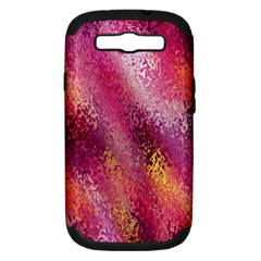 Red Seamless Abstract Background Samsung Galaxy S III Hardshell Case (PC+Silicone)
