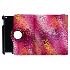 Red Seamless Abstract Background Apple Ipad 3/4 Flip 360 Case