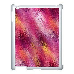 Red Seamless Abstract Background Apple iPad 3/4 Case (White)