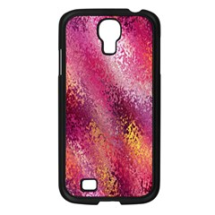 Red Seamless Abstract Background Samsung Galaxy S4 I9500/ I9505 Case (Black)