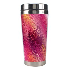 Red Seamless Abstract Background Stainless Steel Travel Tumblers
