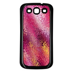 Red Seamless Abstract Background Samsung Galaxy S3 Back Case (black)