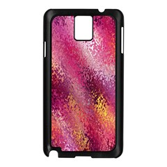 Red Seamless Abstract Background Samsung Galaxy Note 3 N9005 Case (Black)